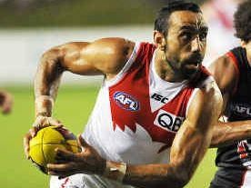 Goodes will run back on field for Swans in NAB Cup clash